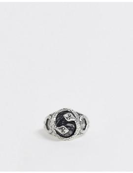 Asos Design Snake Ring With Semi Precious Stone by Asos Design