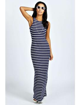Striped Cut Away Maxi Dress by Boohoo