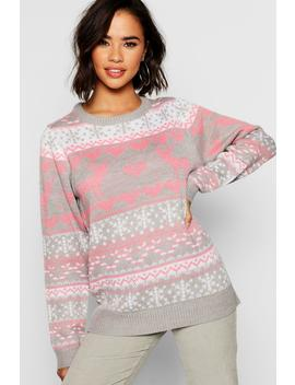 Fairisle Festive Christmas Jumper by Boohoo