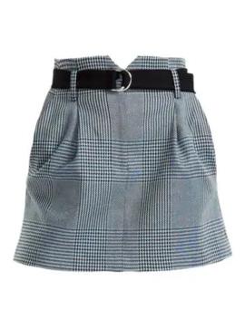 Jadie Prince Of Wales Check Mini A Line Skirt by Maje
