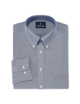 Stafford Travel Wrinkle Free Stretch Oxford Long Sleeve Dress Shirt by Stafford