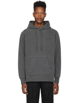 Grey Sand Washed Logo Hoodie by AimÉ Leon Dore