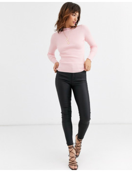 Warehouse Jumper With Funnel Neck In Pink by Warehouse