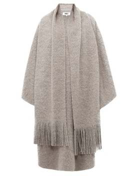 Layered Scarf Wool Blend Poncho by Mm6 Maison Margiela