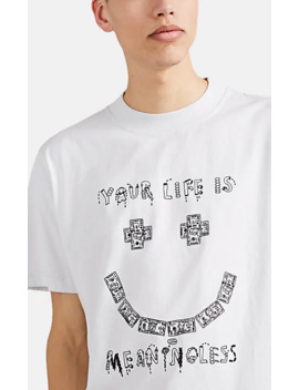 """""""Meaningless"""" Cotton T Shirt by 424"""