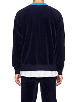 Colorblocked Velour Sweatshirt by Five Seventy Five