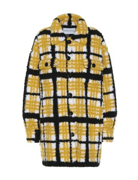 Checked Faux Shearling Jacket by Stand Studio