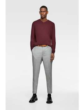 Basic V Neck Sweater by Zara