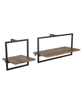 Argos Home Loft Living Set Of 2 Metal Surround Shelves933/8498 by Argos
