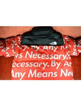 Supreme X The North Face By Any Mean Necessary Red Nuptse 700 Red Size Large by Supreme