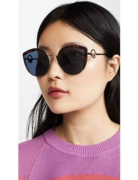 Logo Trim Cat Eye Sunglasses by Fendi