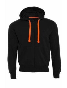 Mens Fleece Zip Up Zipper Hoodies Sweatshirt Neon Strings Long Sleeve Jacket Top by Ebay Seller