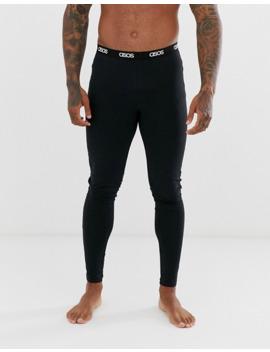Asos Design Lounge Megging And Tshirt Pyjama Set With Slogan In Black by Asos Design