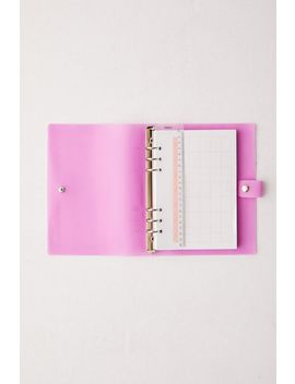 Pink Snap Binder Daily Planner by Urban Outfitters