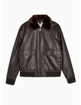 Brown Flight Jacket by Topman