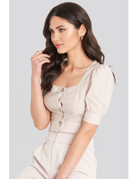 Yol Button Blouse Beige by Trendyol