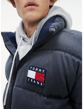 Washed Cotton Padded Jacket by Tommy Jeans