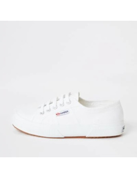 Superga White Classic Runner Trainers by River Island