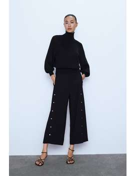 Wide Leg Pants With AppliquÉ by Zara