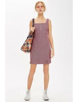 Ladies Topshop Check Pinafore Dress Size 10 Bnwt by Ebay Seller