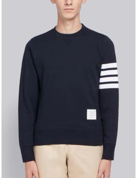 Engineered 4 Bar Jersey Sweatshirt by Thom Browne