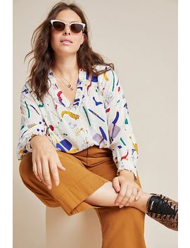Marisol Ruffled Blouse by Anthropologie