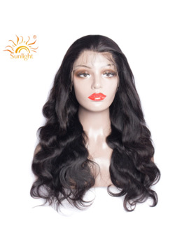 Body Wave 360 Lace Frontal Wig Brazilian Remy Human Hair Wigs With Baby Hair For Women Pre Plucked Bleached Knots Sunlight Hair by Ali Express.Com