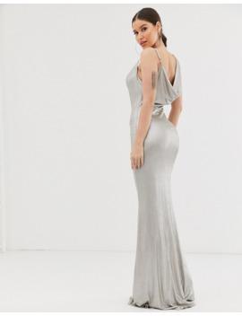 Club L London Asymmetric Cowl Neck Maxi Dress by Club L