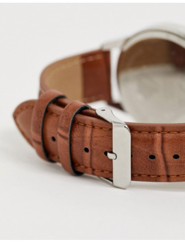 Spirit Design Mens Watch With Tan Strap And Blue Dial by Asos