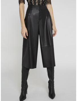 Scarlet Leather Gaucho Pant by Alice And Olivia
