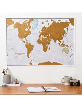 Scratch The World ®   Scratch Off Map Poster   Gift For Him, Gift For Her, Travel Gift, Gift, Wall Hanging, Home Decor by Etsy