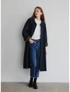 Marron Edition Cotton Trench Coat   Evening Blue by Garmentory