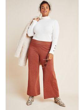 Soho Shimmer Knit Wide Leg Pants by Anthropologie