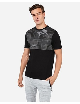 Camo Color Block Jersey T Shirt by Express