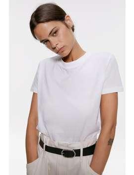 T Shirt In Verwaschener Optik by Zara