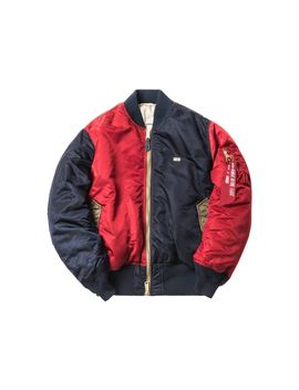 Kith X Alpha Industries Ma 1 Bomber Navy/Red/Olive by Stock X