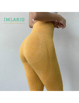 Imlario High Waist Energy Gym Running Capri Tights Seamless Yoga Cropped Pants Women Super Stretchy Workout Booty Leggings 3/4 by Ali Express.Com