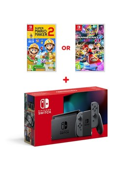 Nintendo Switch Grey Console (Improved Battery) & Select Game by Smyths