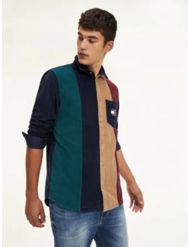 Corduroy Colour Blocked Shirt by Tommy Jeans