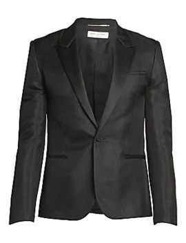 Slim Fit Wool Mohair Sport Jacket by Saint Laurent