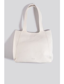 Boxy Tote Bag Weiß by Na Kd Accessories