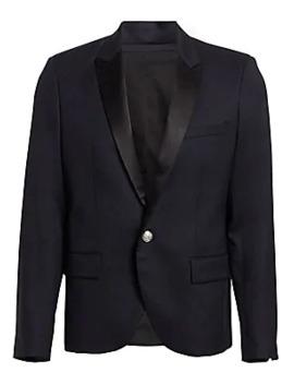 Satin Button Front Jacket by Balmain