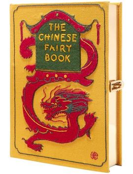 + Wendy Yu The Chinese Fairy Book Appliquéd Embroidered Canvas Clutch by Olympia Le Tan