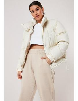 Cream Puffer Jacket by Missguided
