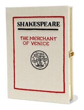 The Merchant Of Venice Appliquéd Canvas Clutch by Olympia Le Tan
