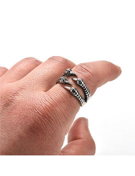Stainless Steel Gothic Jewelry Dragon 4 Claw Ring Punk Goth Eagle Demon Metal Ss by Ebay Seller