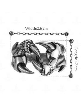 Fashion Men's Punk Gothic Rock Biker Vintage Silver Stainless Steel Claw Ring by Ebay Seller