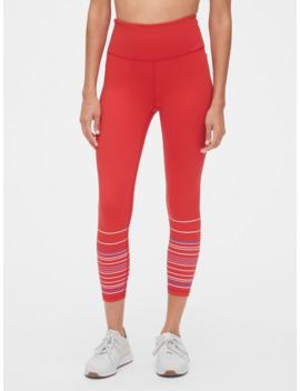 Gap Fit High Rise Blackout Stripe Print 7/8 Leggings by Gap