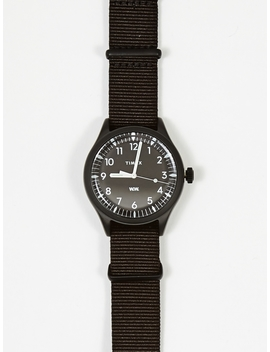 X Timex Waterbury 38mm Watch   Black/Black by Wood Wood