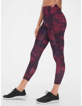 Gap Fit High Rise Perforated Pocket 7/8 Leggings In Sculpt Revolution by Gap